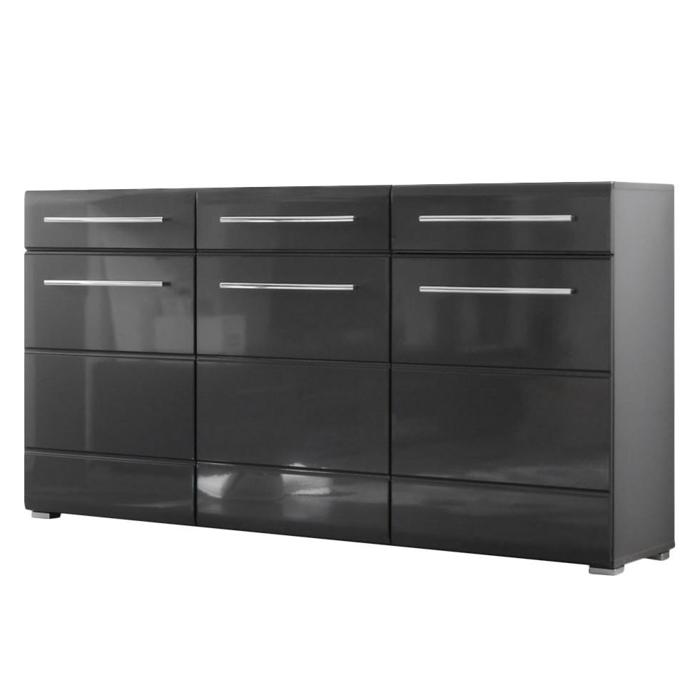 Sideboard tadeus hochglanz grau grau ebay for Klebefolie hochglanz grau