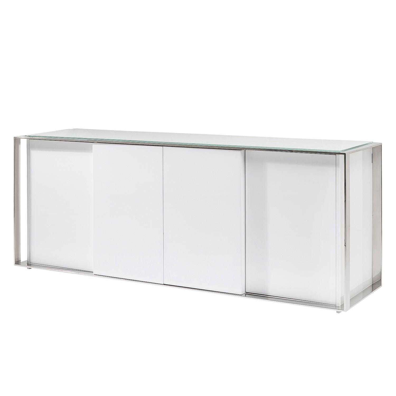 Sideboard Vanity I - Hochglanz Weiß / Silber, Kare Design