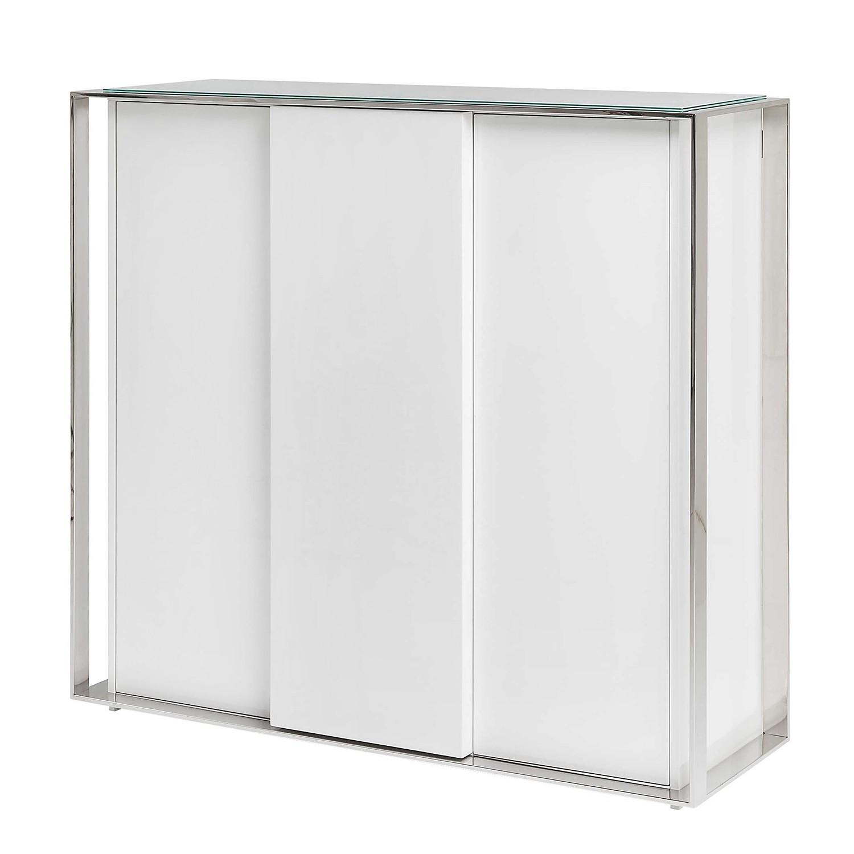 Sideboard Vanity II - Hochglanz Weiß / Silber, Kare Design