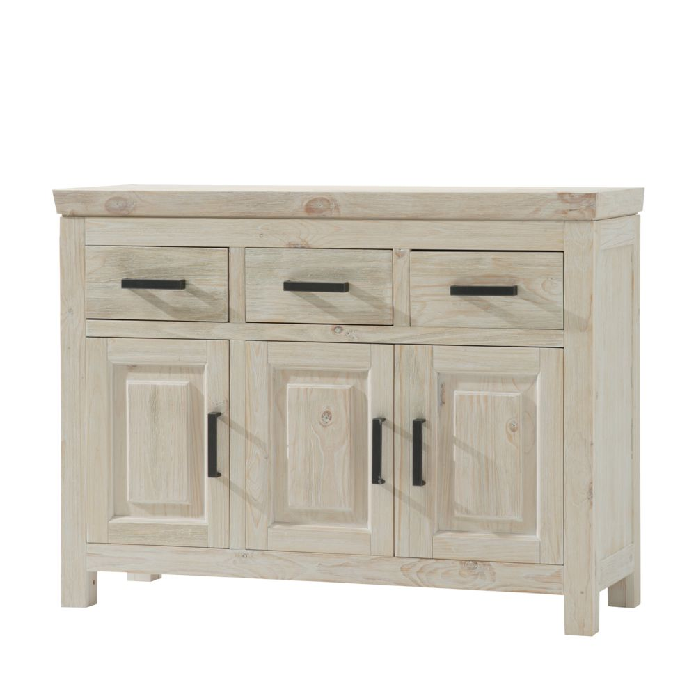 sideboard white kiefer massivholz wei. Black Bedroom Furniture Sets. Home Design Ideas