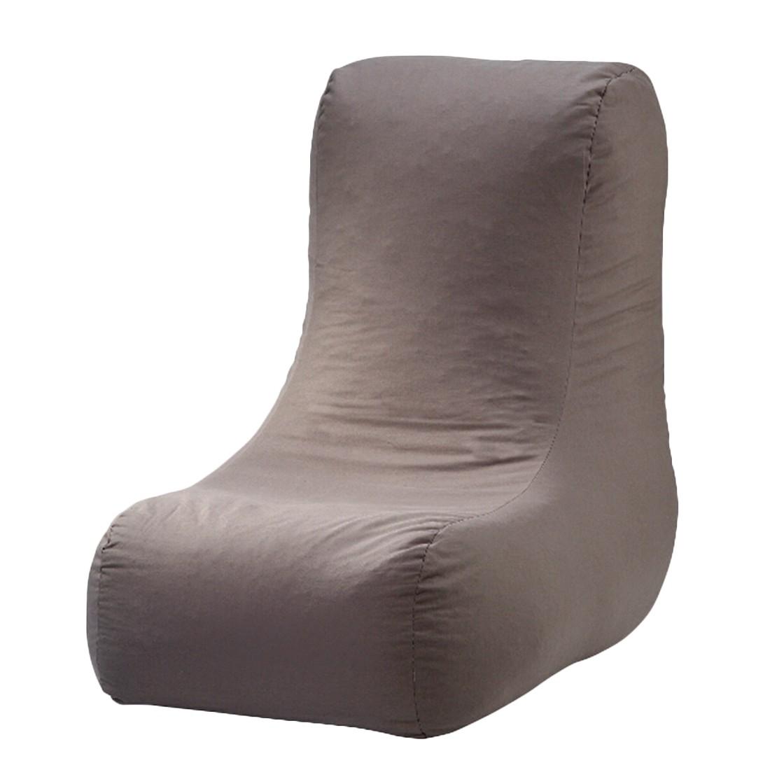 Sitzbanane Baumwolle imprägniert Grau – 60 x 40 cm, KC-Handel kaufen