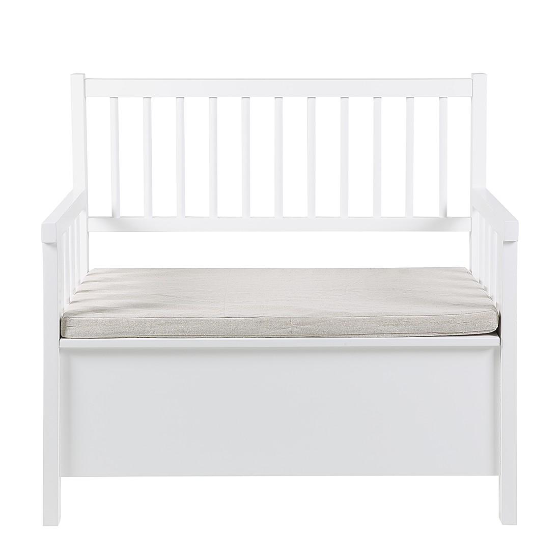 sitzbank adello wei sitztruhe truhe sitzhocker schutruhe ebay. Black Bedroom Furniture Sets. Home Design Ideas