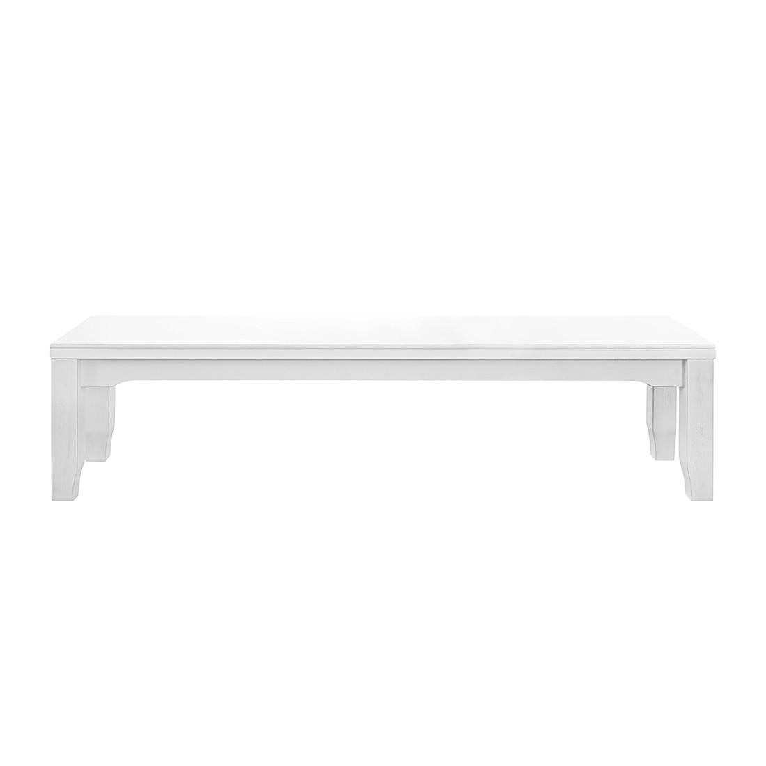 Sitzbank Bretagne – Kiefer massiv – Weiß – 160 x 44 cm, Maison Belfort bestellen