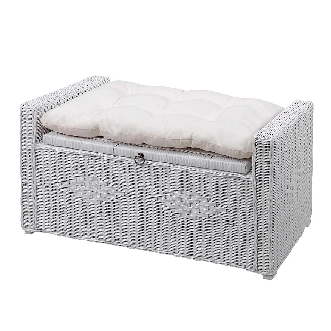 Sitztruhe Farma – Rattan Weiß, Home Design kaufen