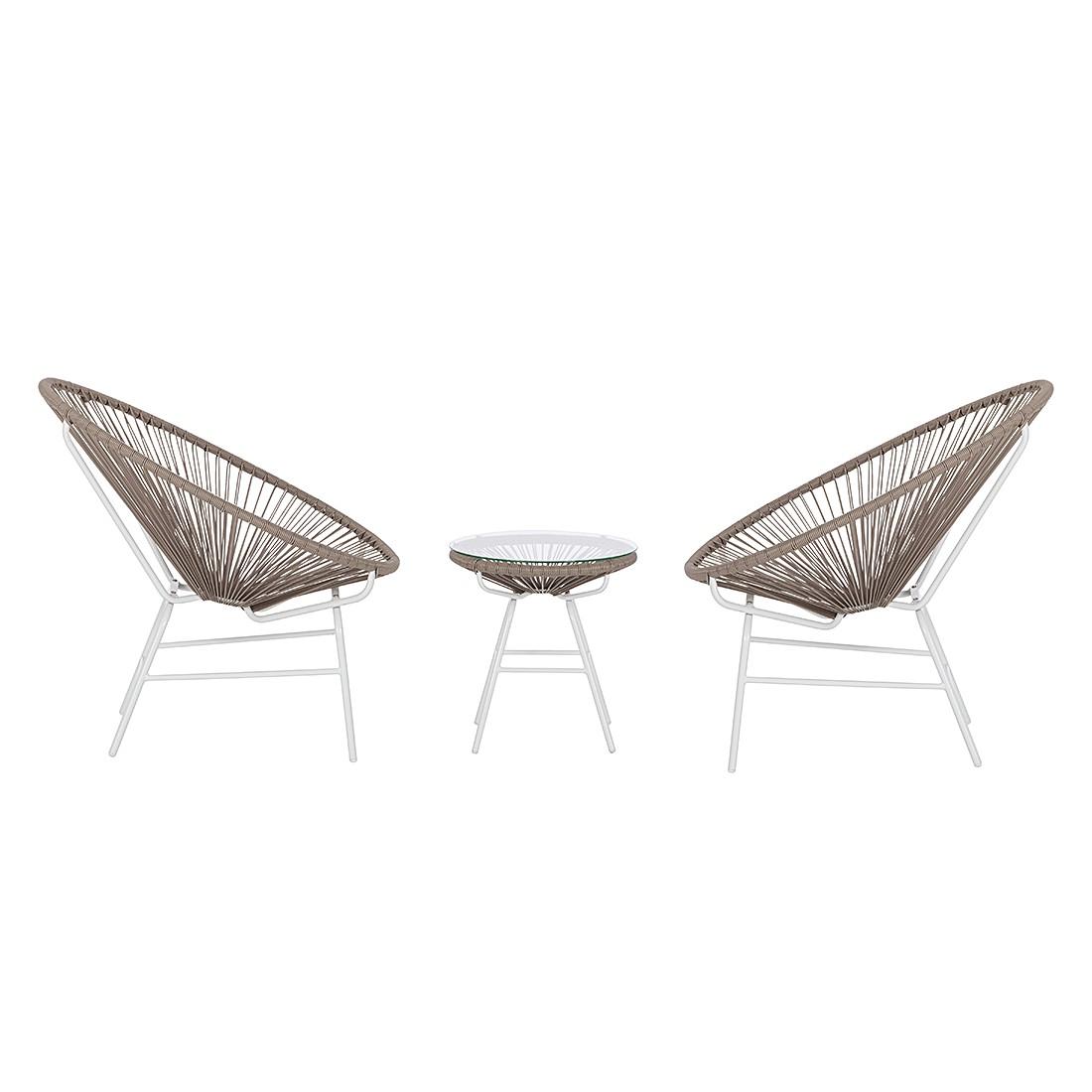 sitzgruppe copacabana ii 3 teilig gartenlounge gartenm bel gartenset ebay. Black Bedroom Furniture Sets. Home Design Ideas