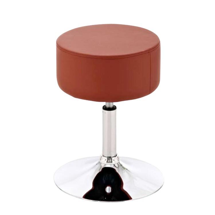 sitzhocker anna cognac kunstleder chrom clp g nstig kaufen. Black Bedroom Furniture Sets. Home Design Ideas
