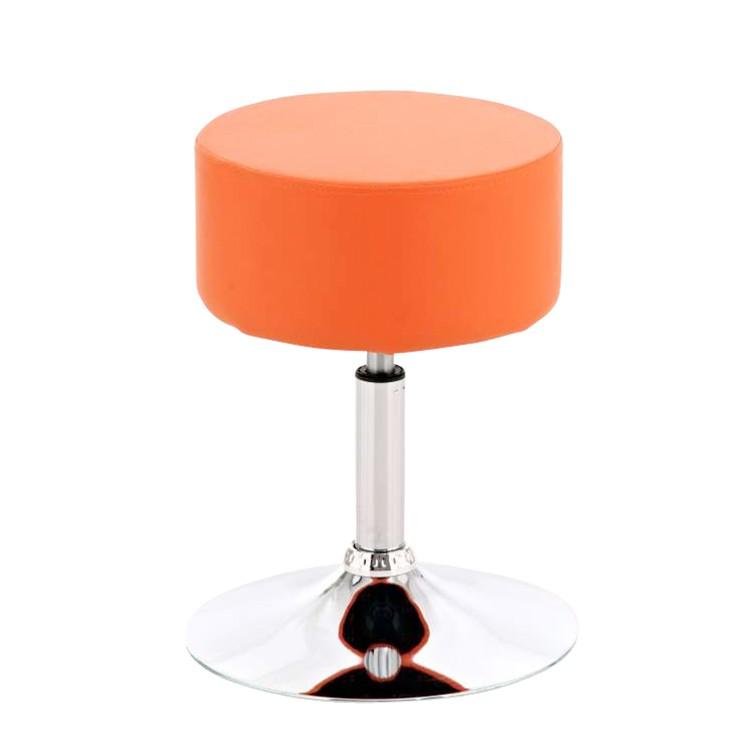 Sitzhocker Anna – Orange – Kunstleder/Chrom, CLP bestellen