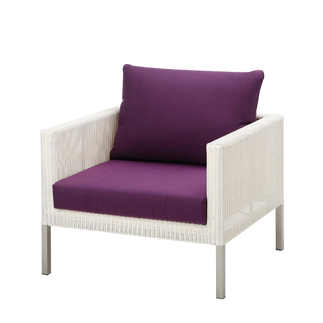Sitzpolster San Remo - Lila uni, Best Freizeitmöbel