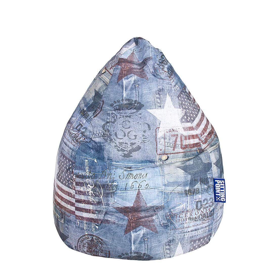 Sitzsack BeanBag Americano XL – Microfaser – Jeansblau, Fredriks günstig online kaufen