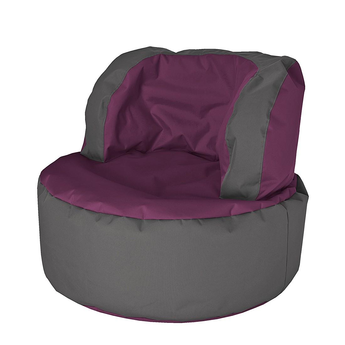Sitzsack Bebop Scuba – Aubergine / Grau, Fredriks günstig kaufen
