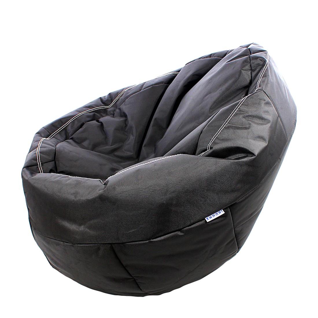 Sitzsack EGxtreme – Webstoff Schwarz, Ikoonz günstig online kaufen