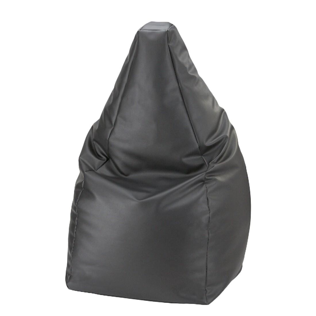 Sitzsack Kunstleder schwarz 90 cm –  x 90 cm, KC-Handel bestellen