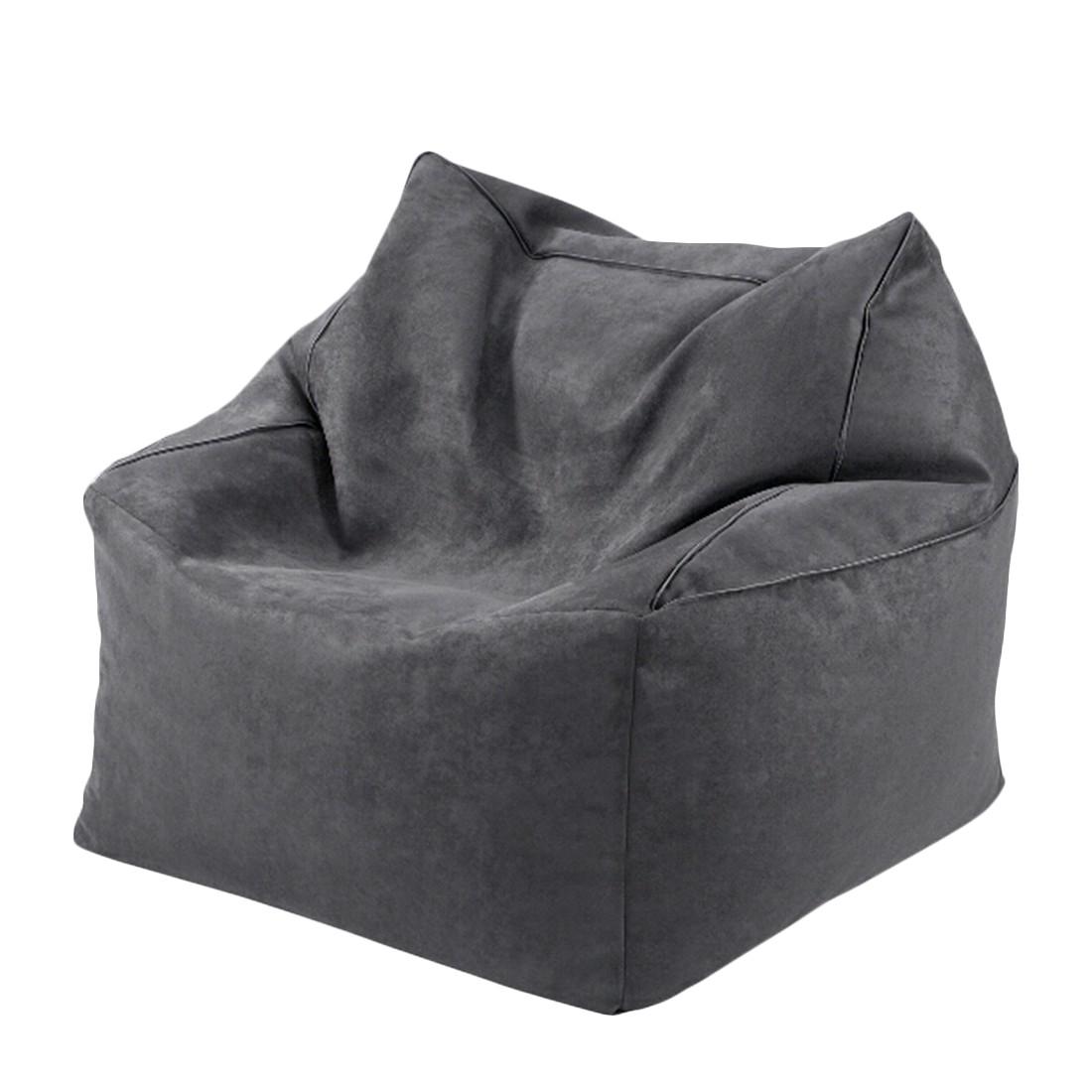 Sitzwürfel 2 in 1 Microvelour ALKA anthrazit – 50 x 50 cm, KC-Handel günstig online kaufen