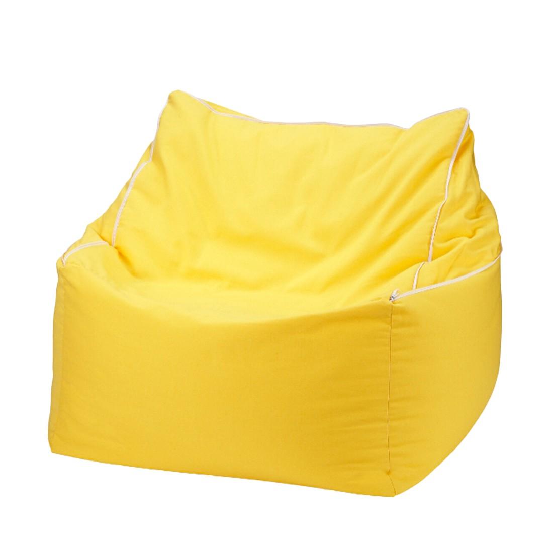 Sitzwürfel 2 in 1Baumwolle impräg. Gelb – 50 x 50 cm, KC-Handel günstig bestellen