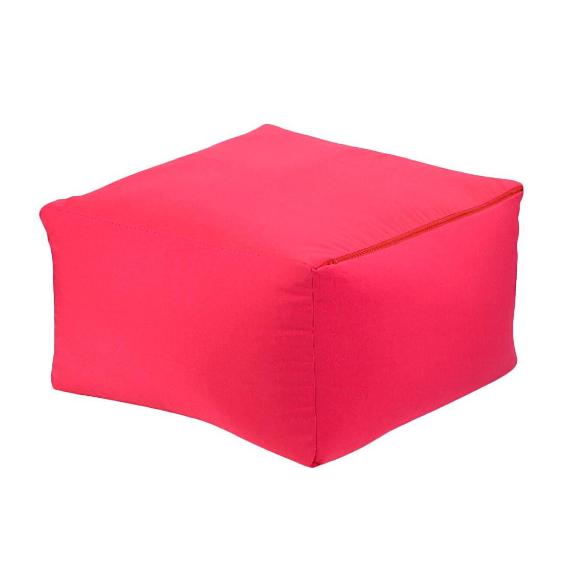 Sitzwürfel 2 in 1Baumwolle impräg. Pink – 50 x 50 cm, KC-Handel günstig online kaufen