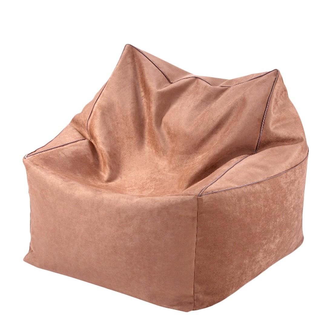 Sitzwürfel 2 in 1Microvelour ALKA espresso – 70 x 70 cm, KC-Handel online kaufen