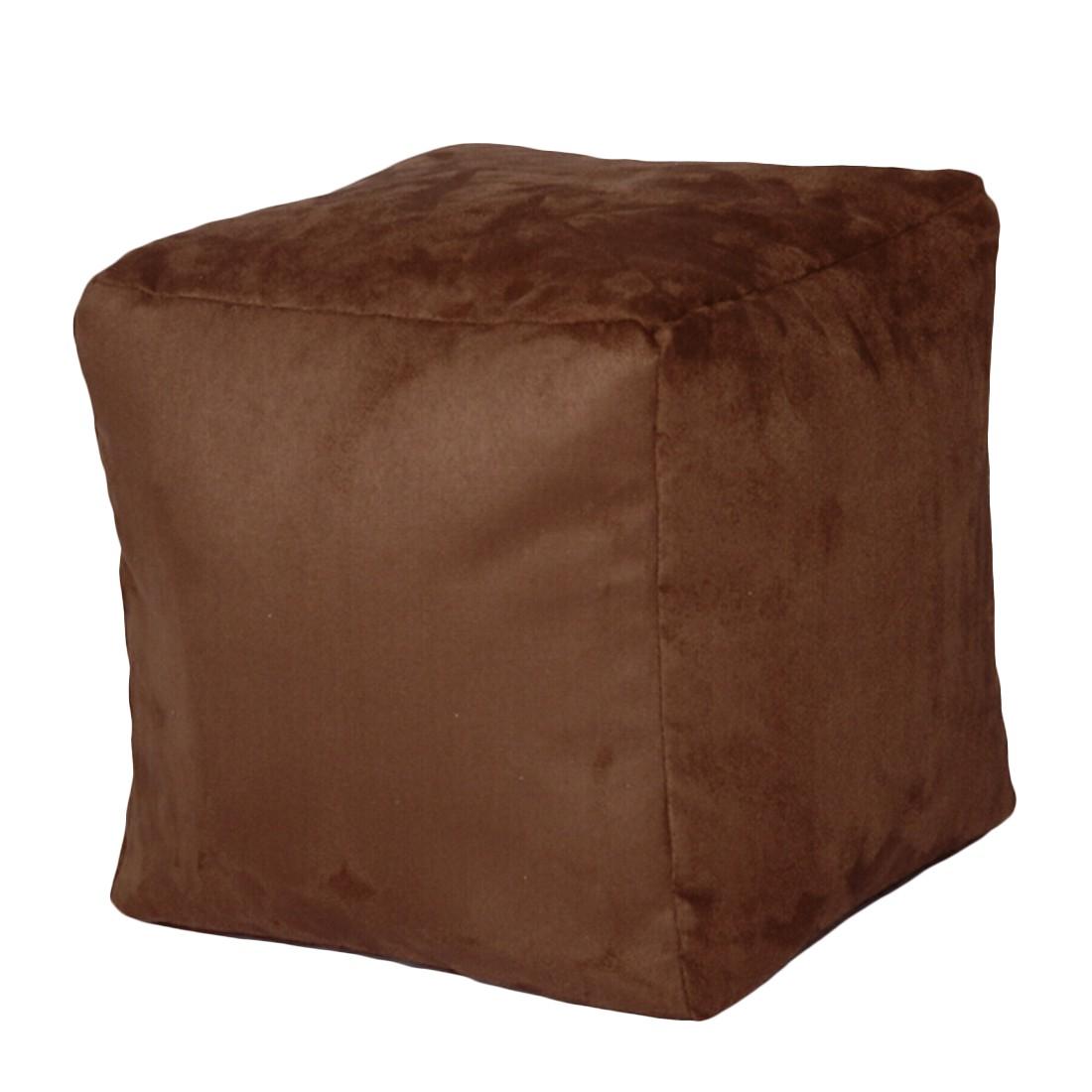 Sitzwürfel Alka dunkelbraun klein – 40 x 40 cm, KC-Handel bestellen