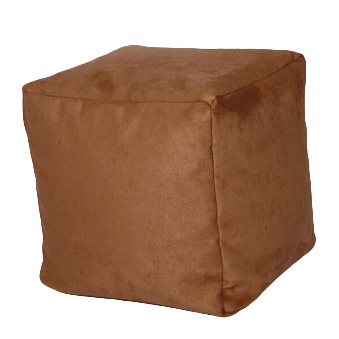 Sitzwürfel Alka hellbraun klein – 30 x 30 cm, KC-Handel online kaufen