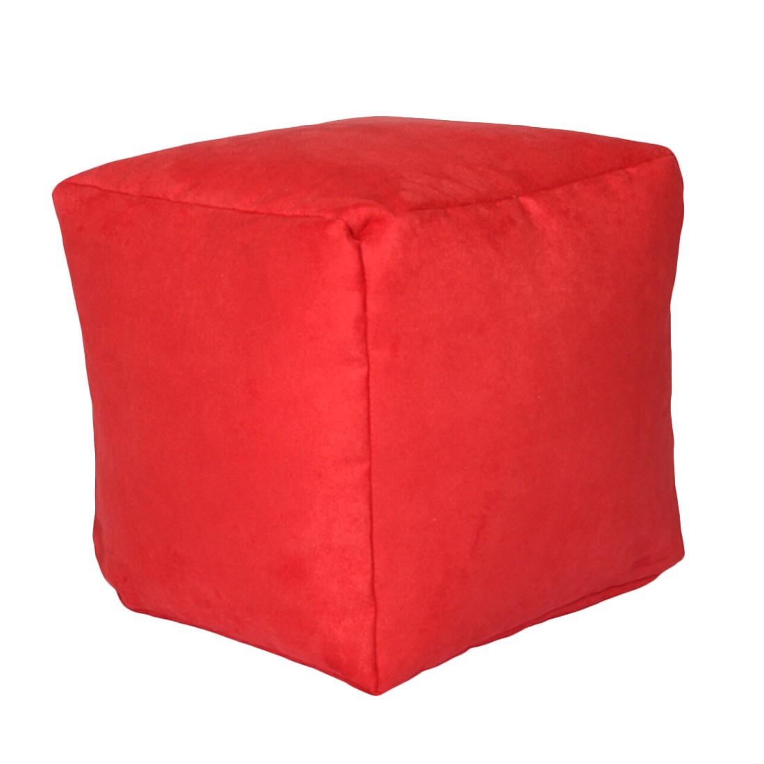 Sitzwürfel Alka rot klein – 30 x 30 cm, KC-Handel günstig online kaufen