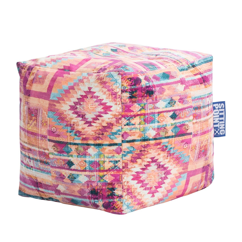 wohnzimmer olivgrün:Sitzwürfel Cube Bursa – Microfaser – Multicolor, SITTING POINT