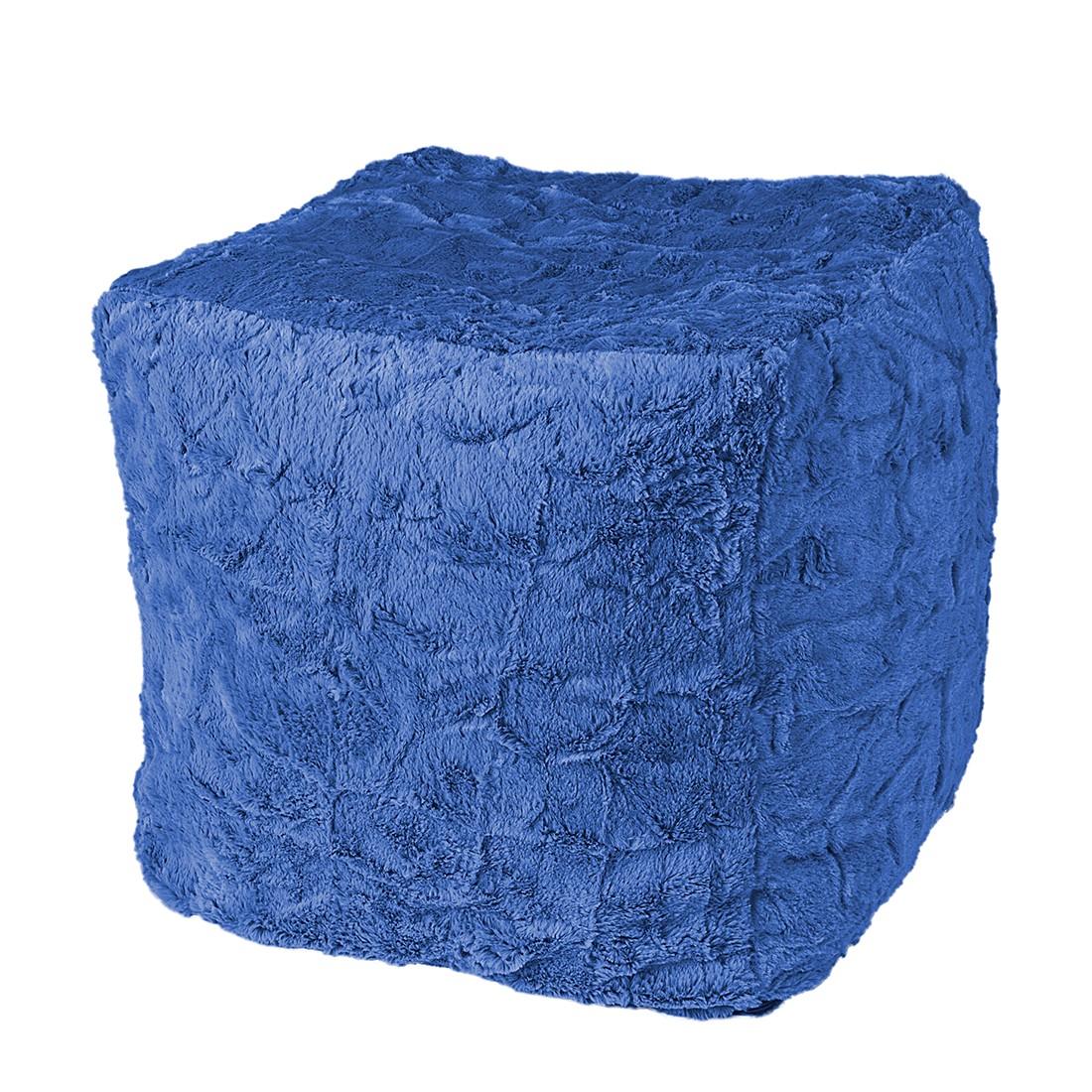 Sitzwürfel Cube Fluffy – Webplüsch – Blau, Fredriks jetzt kaufen