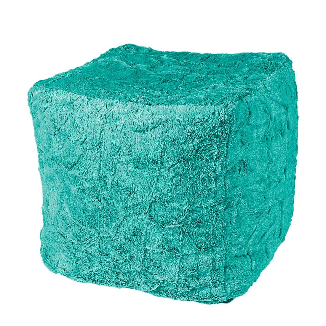 Sitzwürfel Cube Fluffy – Webplüsch – Smaragdgrün, Fredriks günstig bestellen