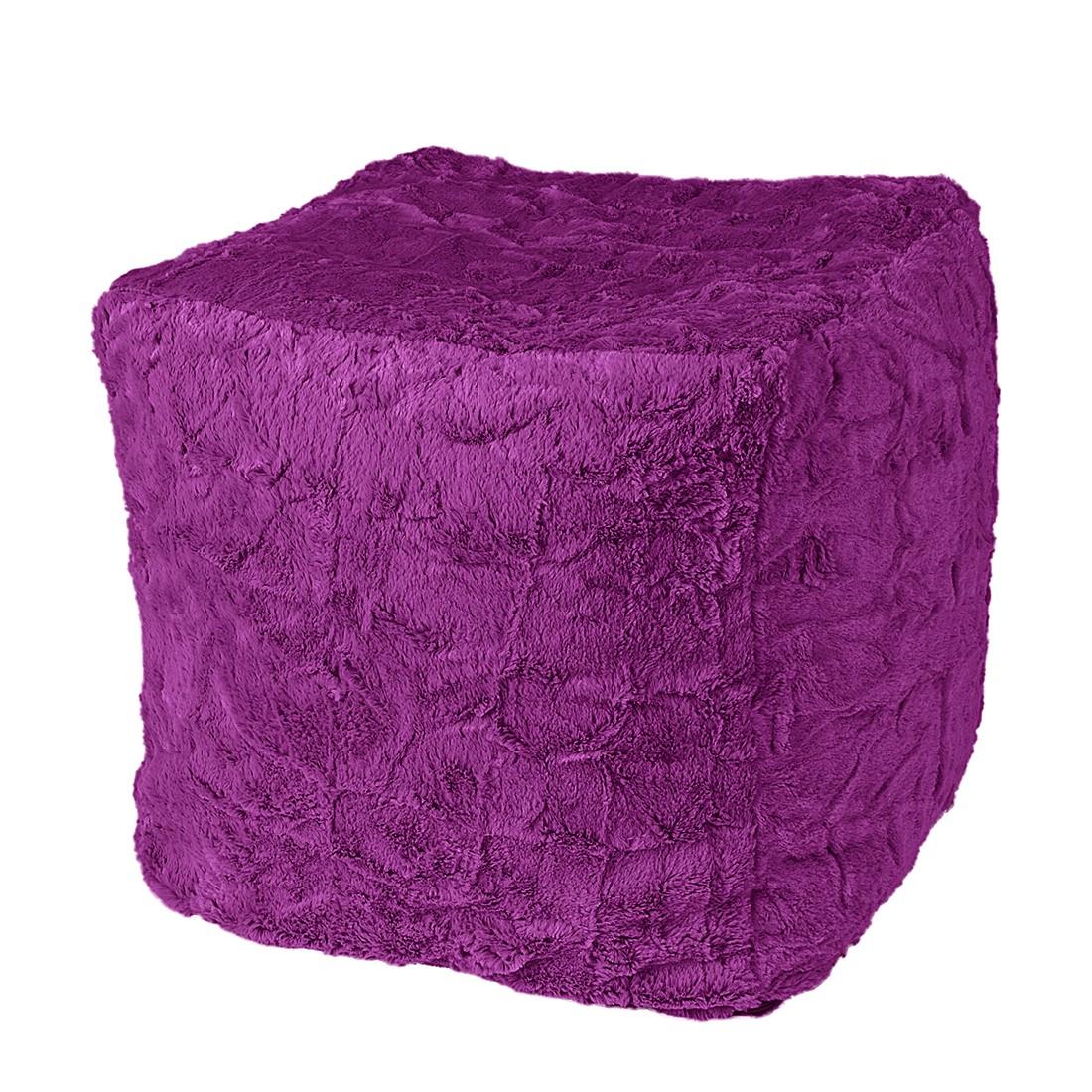 Sitzwürfel Cube Fluffy – Webplüsch – Violett, Fredriks online bestellen
