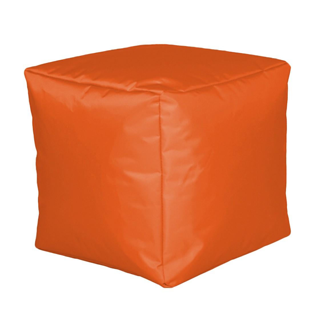 Sitzwürfel Nylon Orange klein – 30 x 30 cm, KC-Handel günstig
