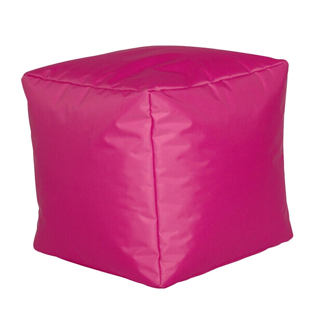 Sitzwürfel Nylon pink klein – Fuchsia – 30 x 30 cm, KC-Handel günstig online kaufen