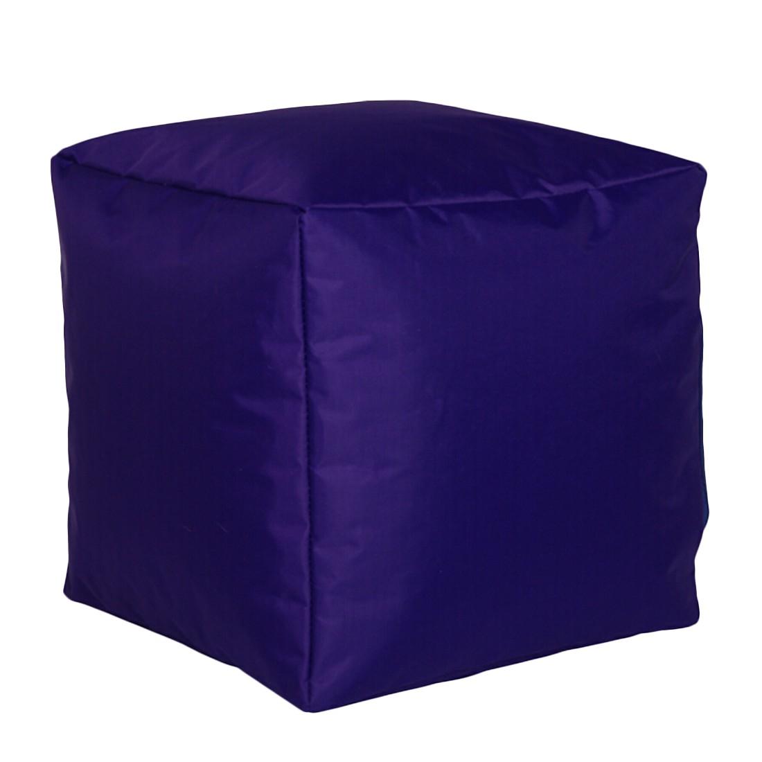 Sitzwürfel Nylon Violett klein – Paars – 30 x 30 cm, KC-Handel jetzt kaufen