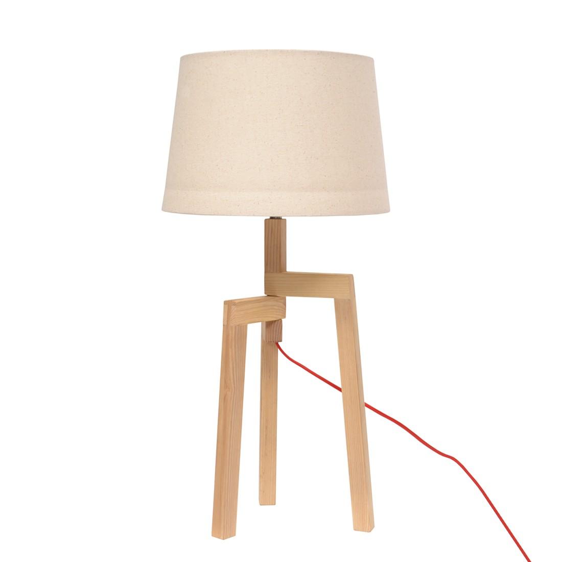 Tischleuchte Terra ● Holz/Leinen ● Beige- Lux A++