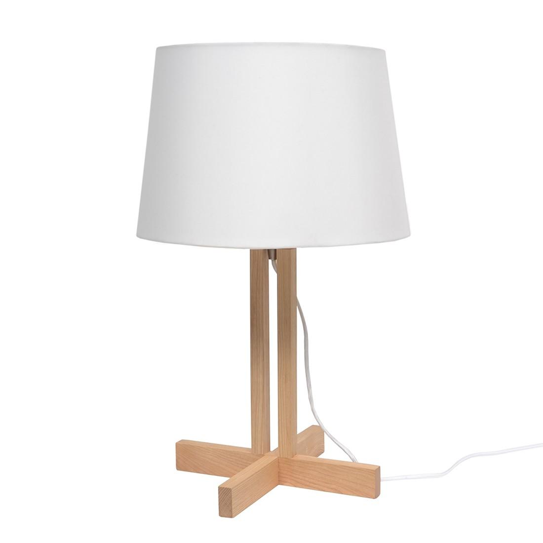 Tischleuchte Woody II ● Esche ● Weiß- Lux A++