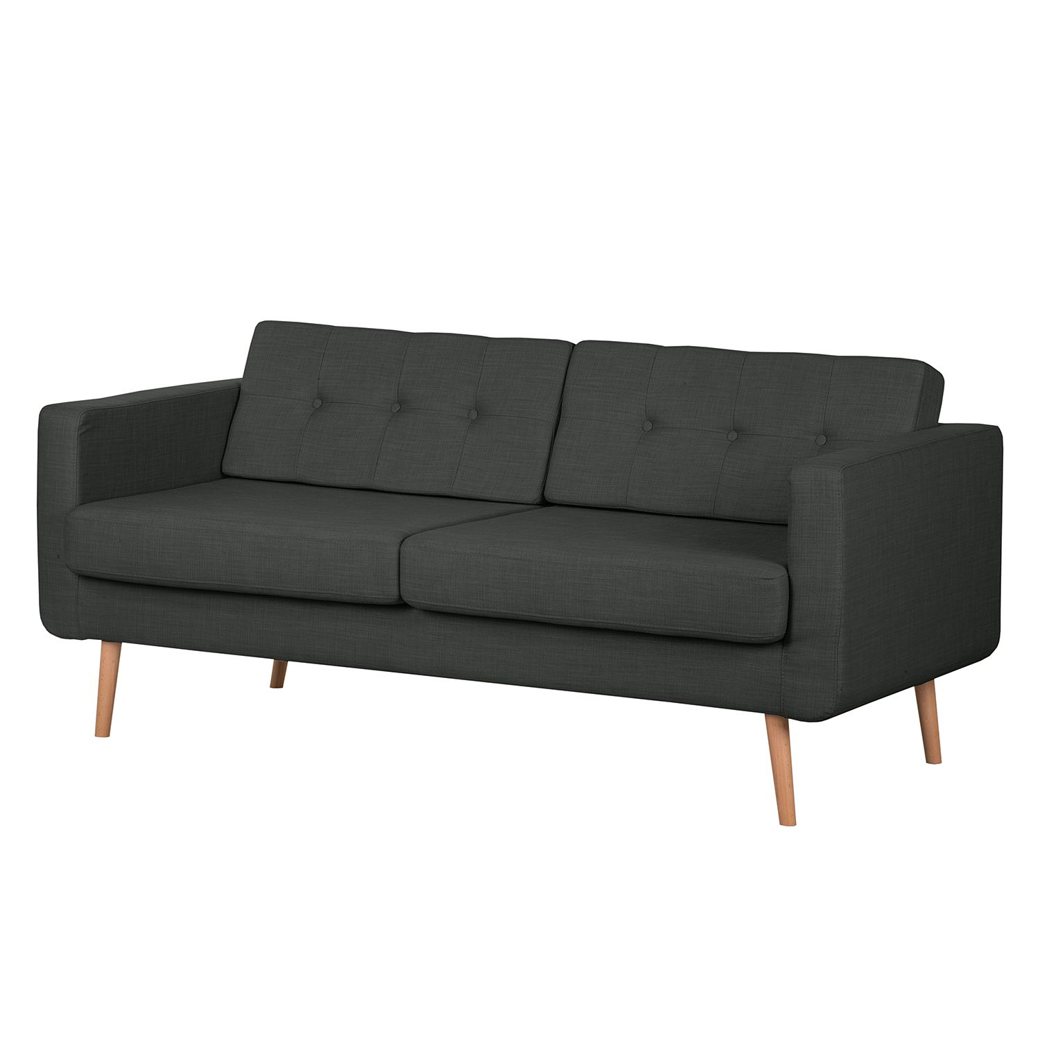 Sofa Aira I (3-Sitzer) – Webstoff – Anthrazit, kollected by Johanna online bestellen