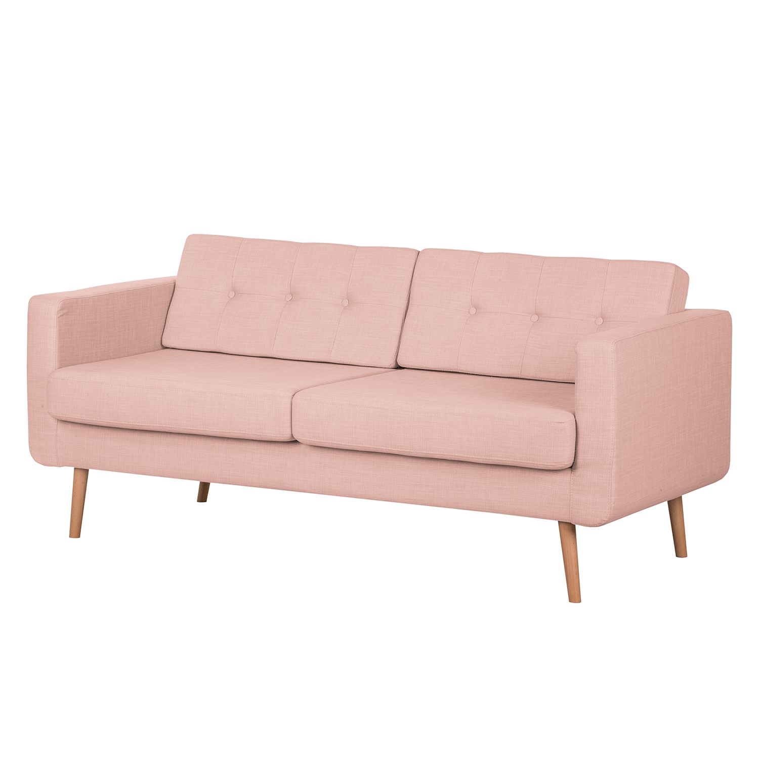 Sofa Aira I (3-Sitzer) – Webstoff – Mauve, kollected by Johanna bestellen