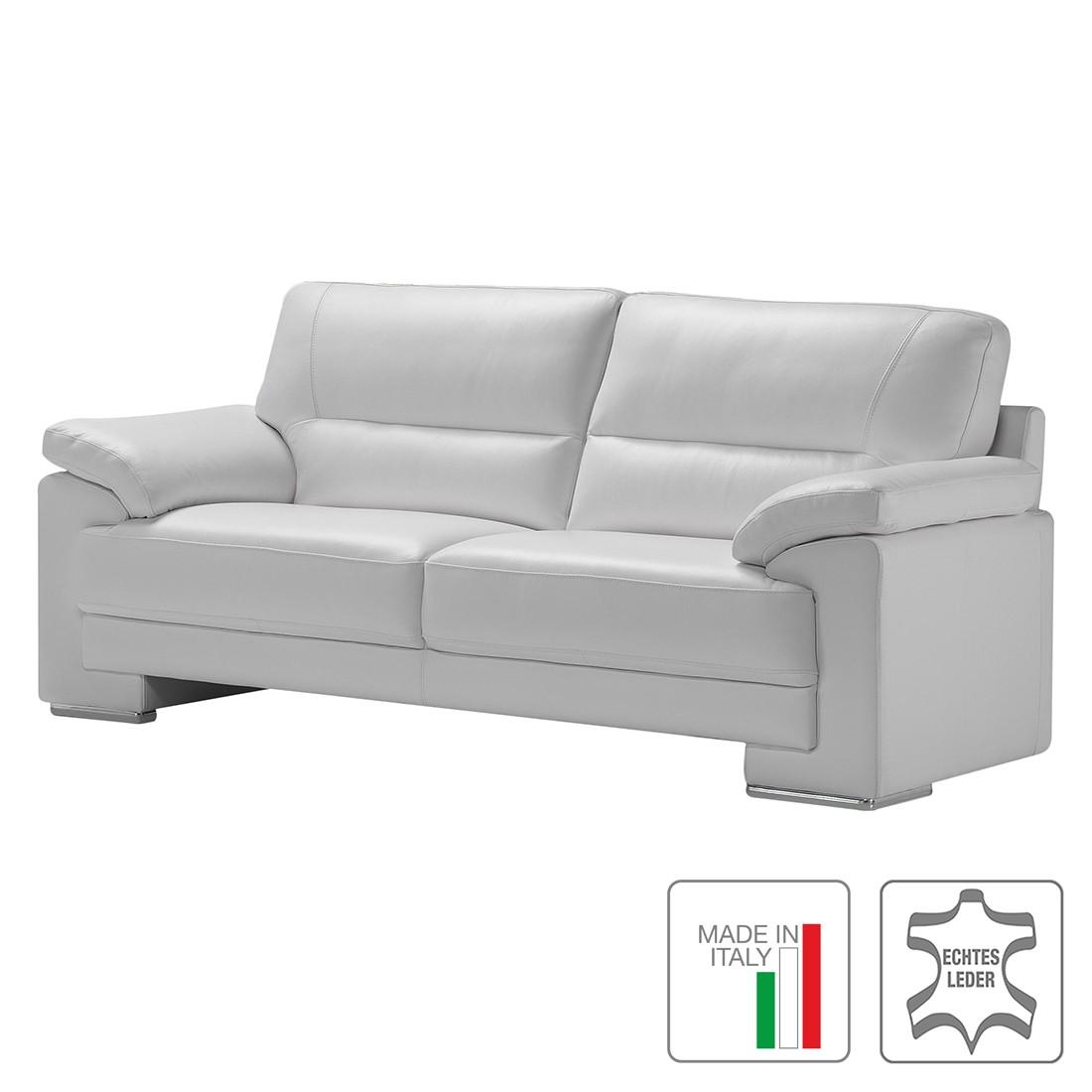 Sofa Alba (2,5-Sitzer) – Echtleder – Weiß, Trend Italiano günstig