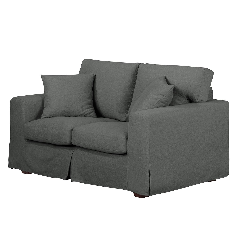 Sofa Alvito II (2-Sitzer) – Webstoff – Anthrazit, Jack and Alice kaufen