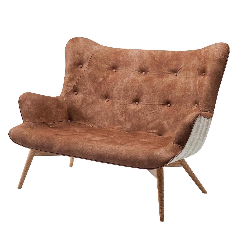 Sofa Angels Wings Leather Allium Brown 2-Sitzer - Echtleder - Braun, Kare Design