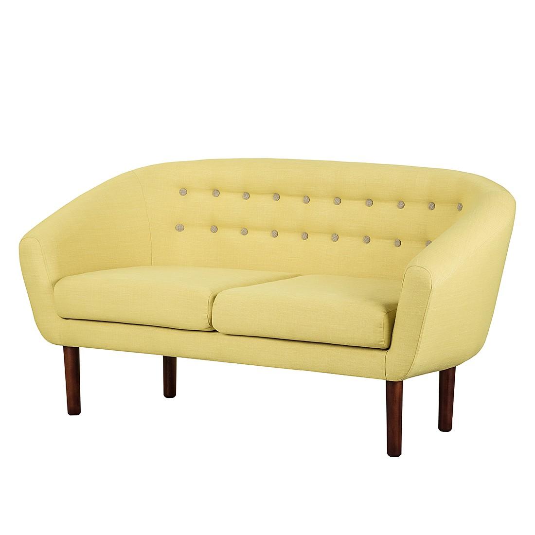 Sofa Anna (2-Sitzer) - Webstoff - Gelb, reconcept