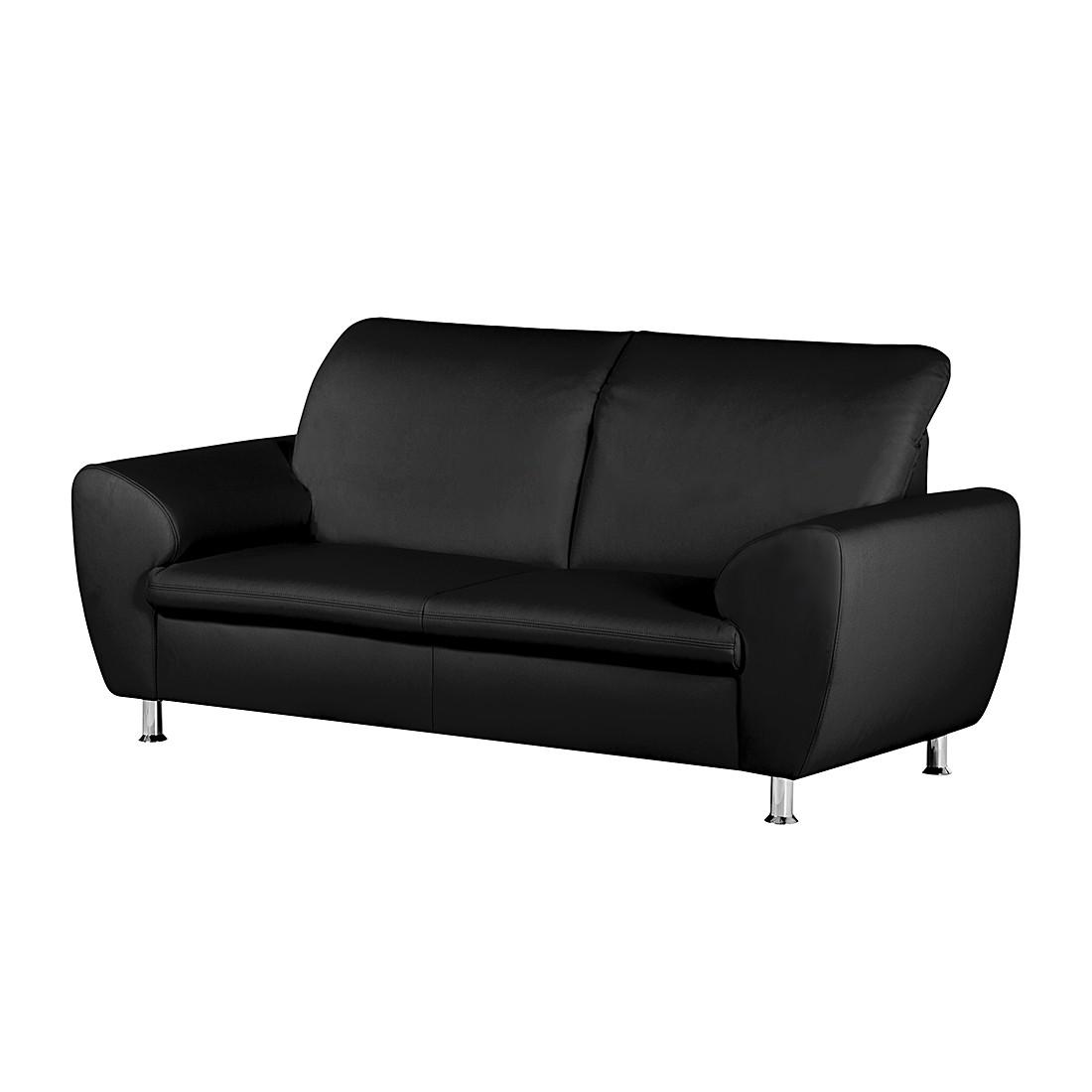 sofa aras 2 sitzer kunstleder schwarz fredriks kaufen. Black Bedroom Furniture Sets. Home Design Ideas
