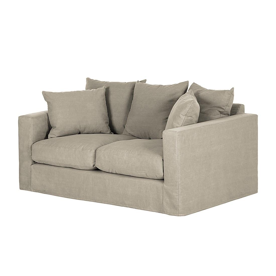 Sofa Ashton (2-Sitzer) – Baumwollstoff – Beige, Maison Belfort günstig