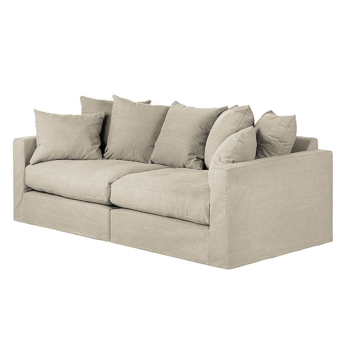 sofa ashton 3 sitzer baumwollstoff beige maison belfort online kaufen. Black Bedroom Furniture Sets. Home Design Ideas