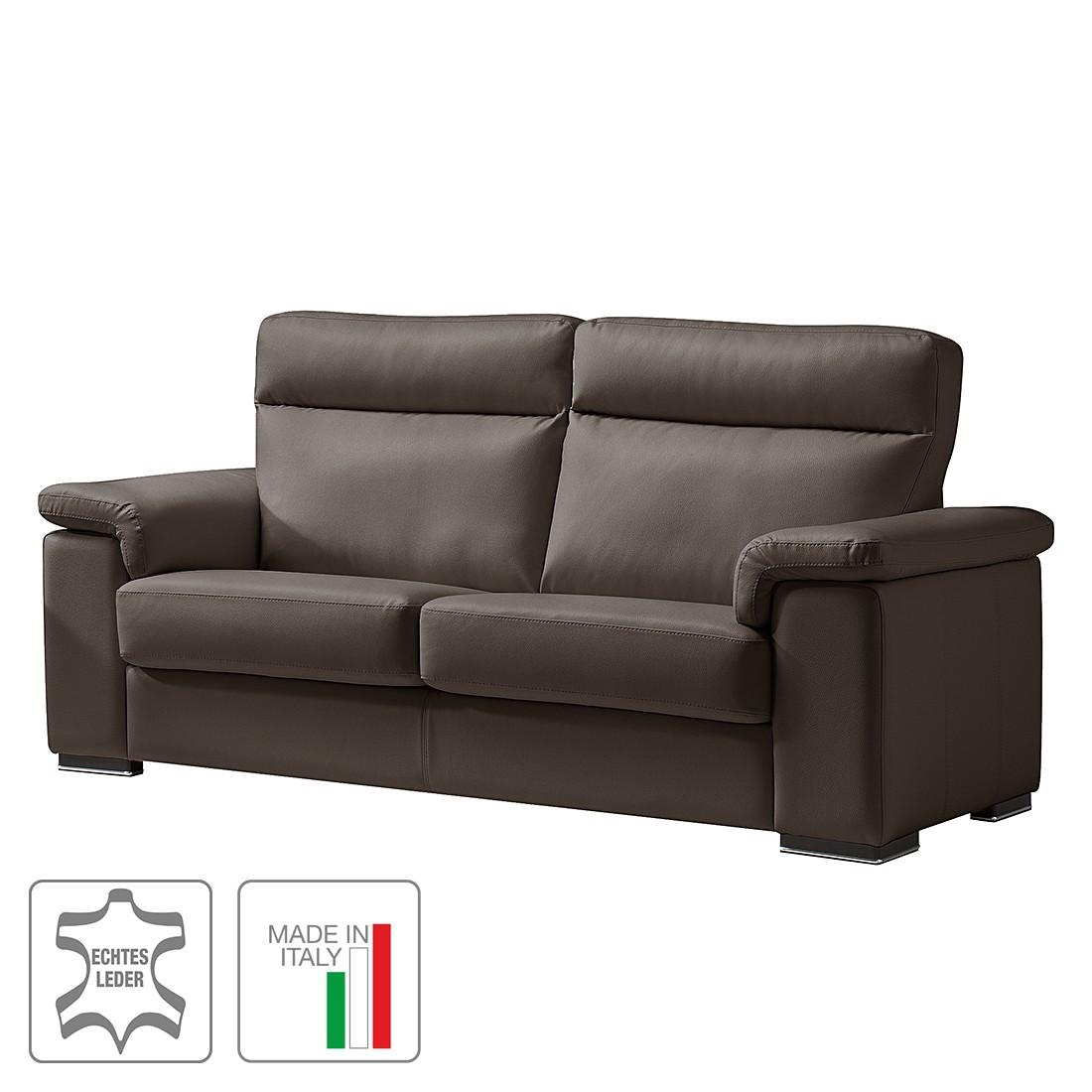 Sofa Babylon (2,5-Sitzer) – Echtleder – Keine Funktion – Dunkelbraun, Trend Italiano günstig kaufen