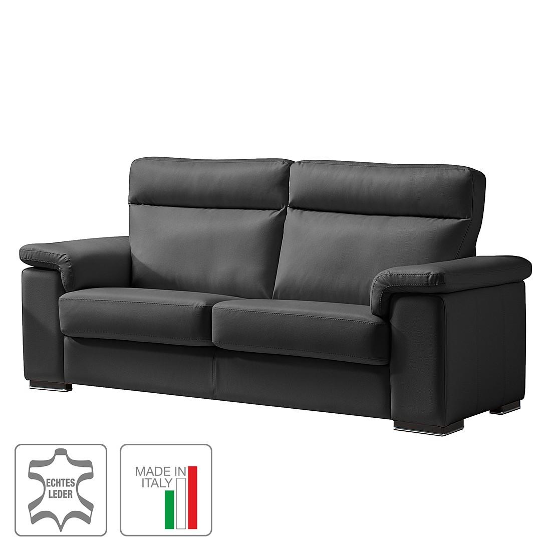Sofa Babylon (2,5-Sitzer) – Echtleder – Keine Funktion – Schwarz, Trend Italiano online bestellen