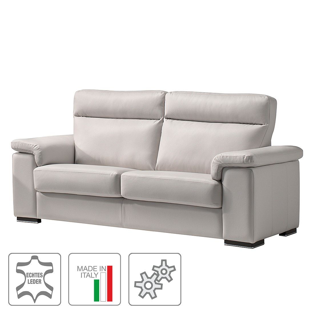sofa babylon 2 5 sitzer echtleder mit relaxfunktion wei trend italiano online kaufen. Black Bedroom Furniture Sets. Home Design Ideas