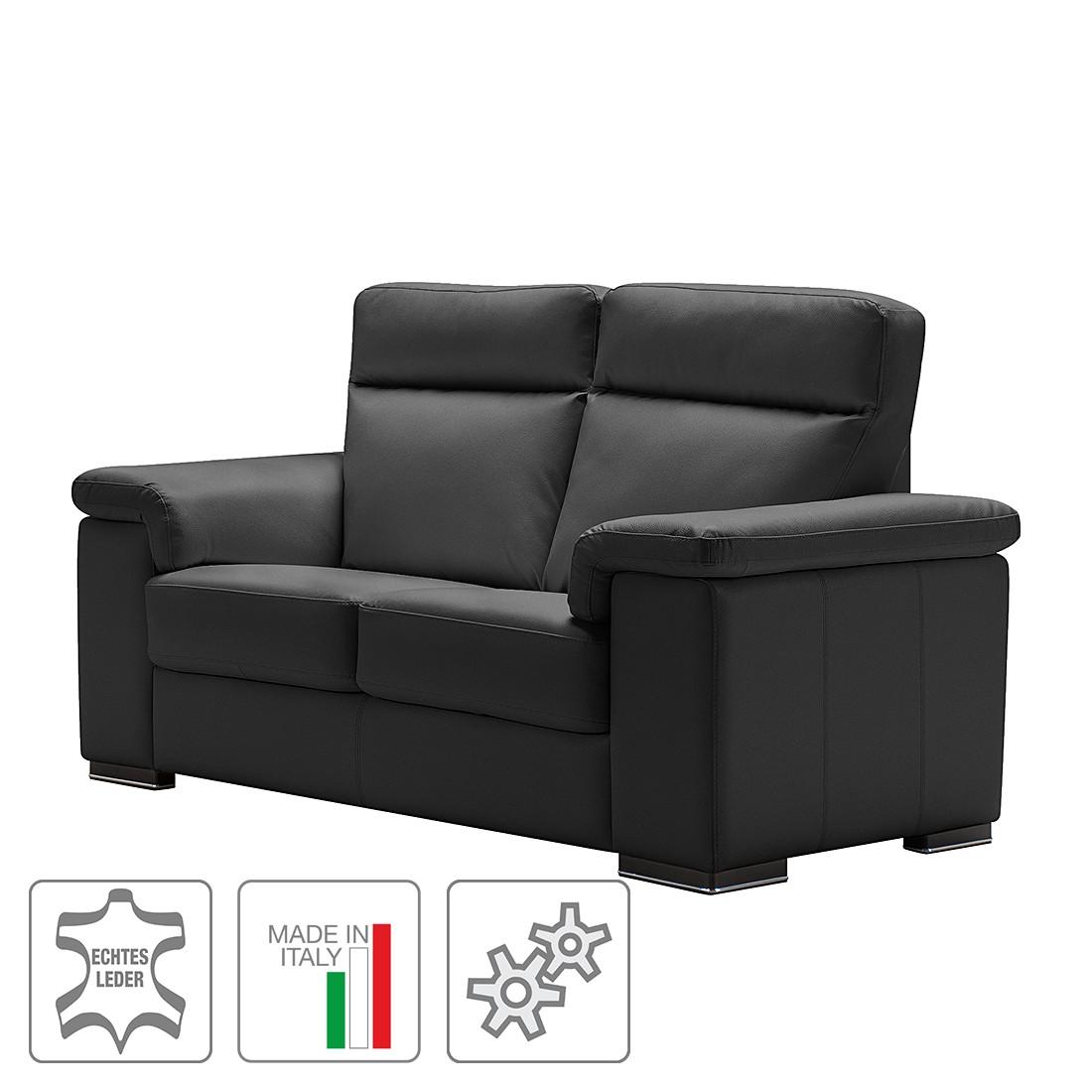 Sofa Babylon (2-Sitzer) – Echtleder – Mit Relaxfunktion – Schwarz, Trend Italiano online bestellen