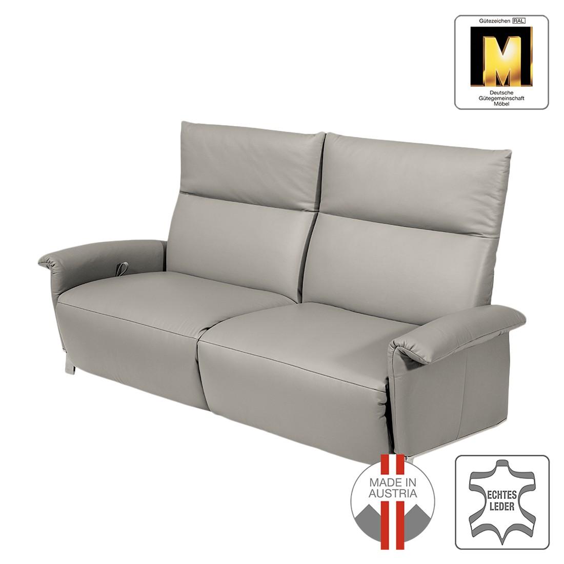 Sofa Barcelona (2-Sitzer) – Echtleder – Mit Relaxfunktion – Steingrau, ADA premium jetzt bestellen