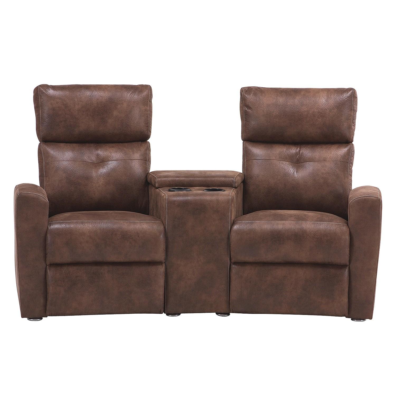Sofa barroman 2 sitzer microfaser braun couch ebay for Sofa microfaser