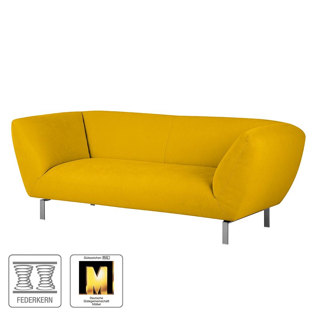 Sofa Blues (2-Sitzer) - Microfaser Senfgelb, Ultsch Polstermöbel kaufen