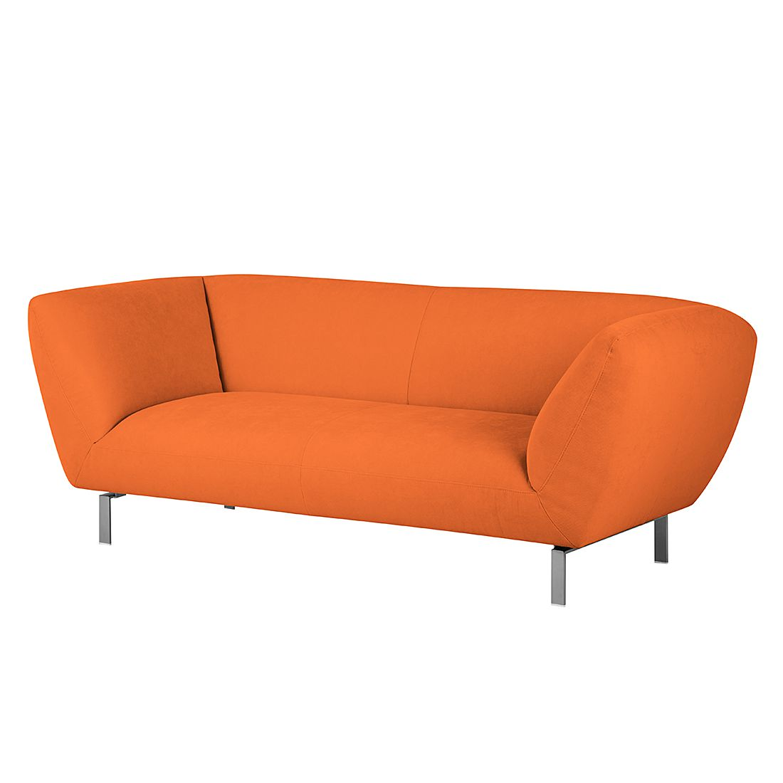 Sofa Blues (2-Sitzer) - Microfaser - Orange, Ultsch Polstermöbel