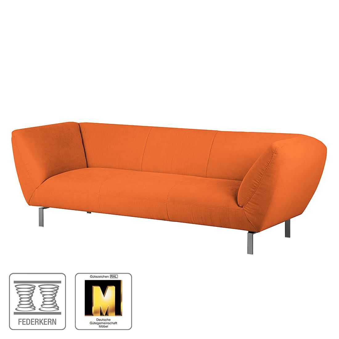 sofa blues 3 sitzer microfaser orange ultsch. Black Bedroom Furniture Sets. Home Design Ideas